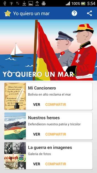 YO QUIERO UN MAR PARA BOLIVIA